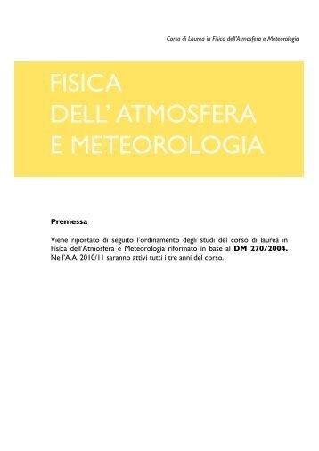 A.A. 2010/11 - Macroarea di Scienze MFN