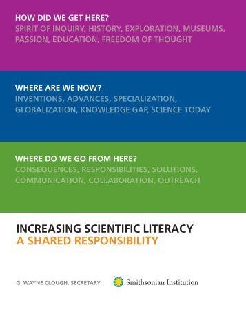 increasing scientific literacy a shared responsibility - Science is Fun ...