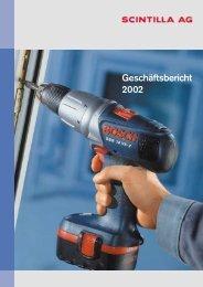 Geschäftsbericht 2002 - Scintilla AG