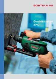 Geschäftsbericht 2003 - Scintilla AG