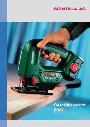 Geschäftsbericht 2001 - Scintilla AG