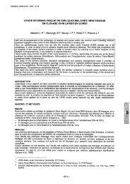 ETUDE EPIDEMIOLOGIQUE DE QUELQUES MALADIES ... - SciQuest