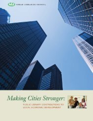 Making Cities Stronger: Public Library Contributions ... - Urban Institute