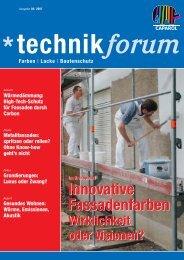 Innovative Fassadenfarben Innovative Fassadenfarben - Caparol ...