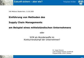 Einführung von Methoden des SCM am Beispiel ... - Scm4you.net