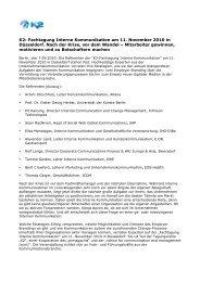K2: Fachtagung Interne Kommunikation am 11. November ... - SCM