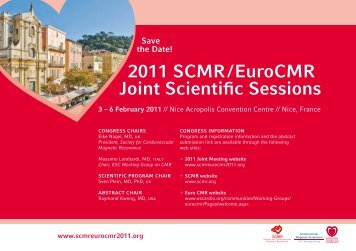 2011 SCMR / EuroCMR Joint Scientific Sessions - Society of ...