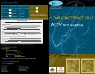 THE CMR CONFERENCE 2012