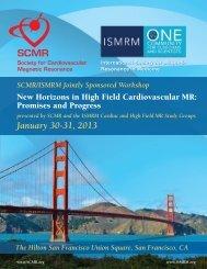 January 30-31, 2013 - Society of Cardiovascular Magnetic Resonance