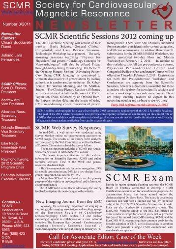 04/11 - Society of Cardiovascular Magnetic Resonance