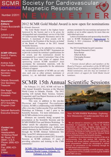 scmr newsletter 2-2011 v4.cdr - Society of Cardiovascular Magnetic ...