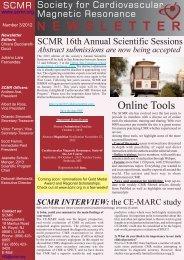 N E W S L E T T E R - Society of Cardiovascular Magnetic Resonance