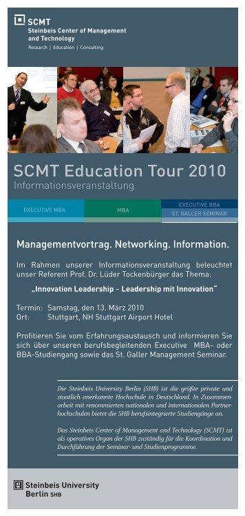 Managementvortrag. Networking. Information ... - SCMT