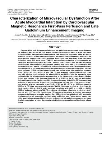 Characterization of Microvascular Dysfunction After Acute ...