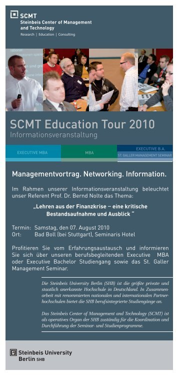 Managementvortrag. Networking. Information ... - SCMT