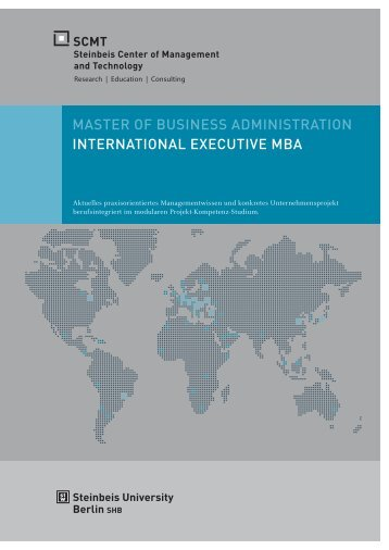Broschüre International Executive MBA - SCMT