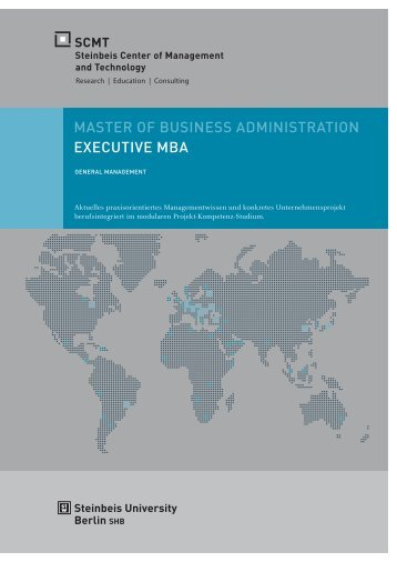 MASTER OF BUSINESS ADMINISTRATION EXECUTIVE MBA - SCMT