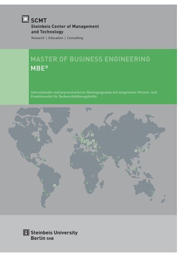 MASTER OF BUSINESS ENGINEERING MBE® - SCMT