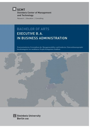 bachelor of arts executive ba in business administration - SCMT