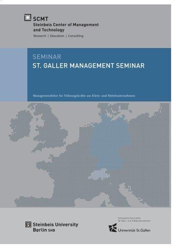 SEMINAR ST. GALLER MANAGEMENT SEMINAR - SCMT