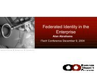 Federated Identity in the Enterprise