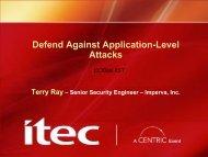 Defend Against Application-Level Attacks