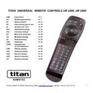 titan universal remote controls ur 2300, ur 2400 - Doknet