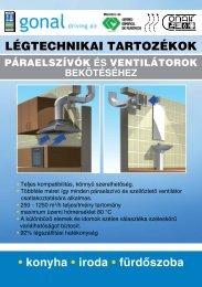 • konyha • iroda • fürdőszoba LÉGTECHNIKAI TARTOZÉKOK