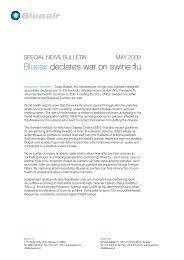 Blueair declares war on swine flu