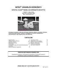 Intex papírszűrős vízforgató leírása - SHP.hu
