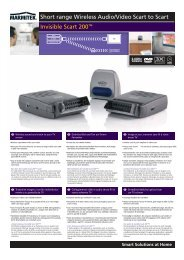Short range Wireless Audio/Video Scart to Scart Invisible Scart 200™