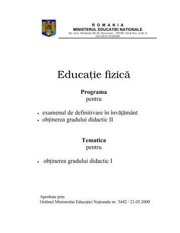 PROGRAMA DEF si GR II EDUCATIE FIZICA