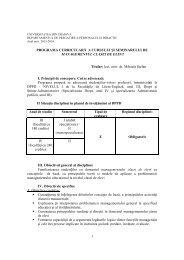 Managementul cls de elevi - Universitatea din Craiova