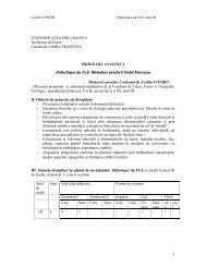 1 UNIVERSITATEA DIN CRAIOVA Facultatea de Litere Catedra de ...