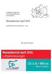 Monatsbericht April 2010