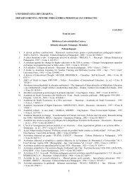 Anexa II.22.1 - Universitatea din Craiova