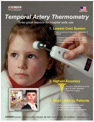 Accuracy and Benefits of Exergen TA Thermometry