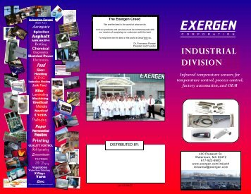 Industrial Product Tri-Fold - Exergen Corporation