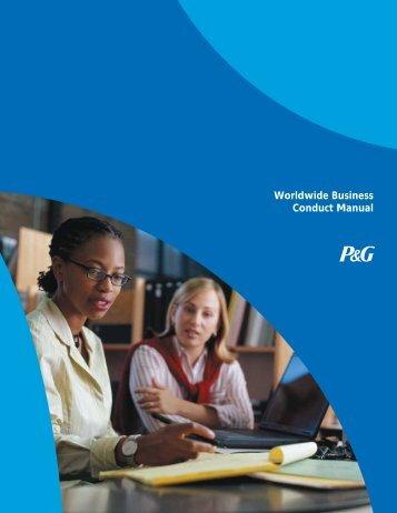 Worldwide Business Conduct Manual - P&G UK and Ireland