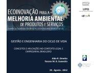 Gestão e Engenharia do Ciclo de Vida - Escola de Engenharia de ...