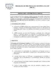 PROGRAMA DE PRÉ-INICIAÇÃO CIENTÍFICA DA USP (PRÉ-IC ...
