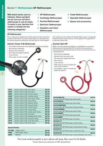 Section T Stethoscopes GP Stethoscopes