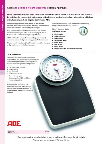 Section R Scales & Height Measures Medically Approved