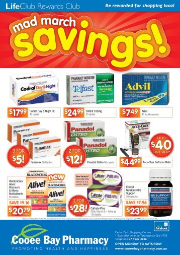 28! $12! $28! $12! - Coral Coast Pharmacies
