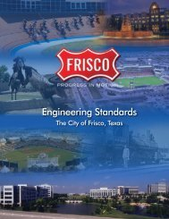 City of Frisco Engineering Standards