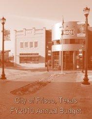 Budget 2010 - City of Frisco