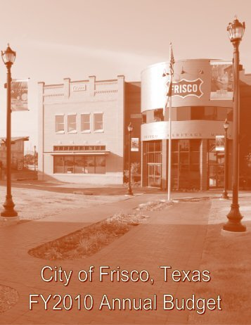 Budget 2010 - City of Frisco