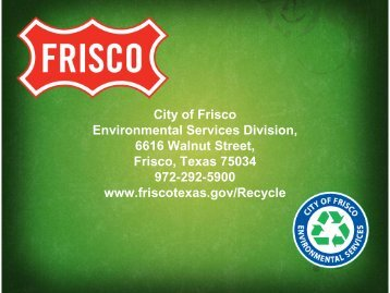 City of Frisco Environmental Services Division