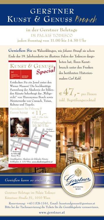 KUNST & GENUSS KUNST & GENUSS Brunch - Gerstner