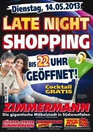 Dienstag, 14.05.2013 - Möbel Zimmermann